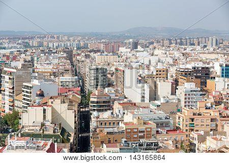 Alicante, Spain - SEPTEMBER 2015: View of the city of Alicante