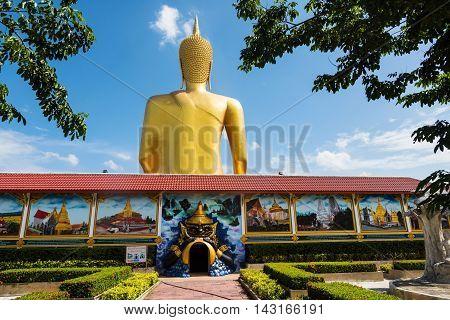 Giant Buddha In Wat Bangchak, Nonthaburi
