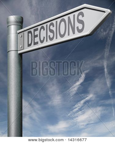 Making Decisions Road Sign Clipping Path