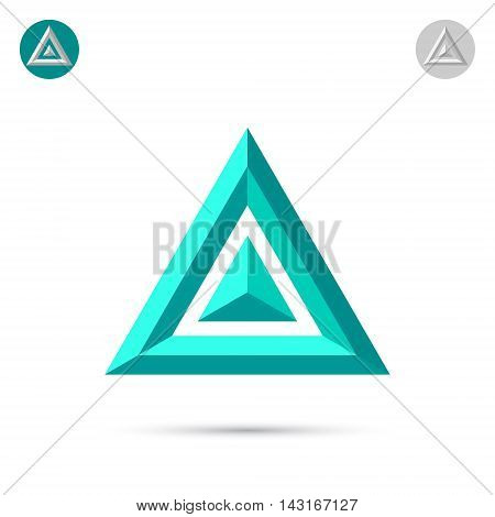 Delta letter icon 2d triangle logo vector illustration eps 10