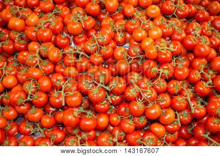 Background Of Plenty Of Red Branch Tomatoes