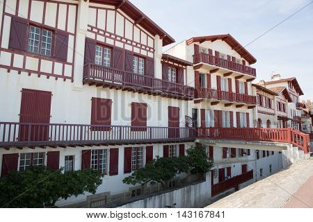 Basque Country. France. View Of A House With Tradionnal Exterior