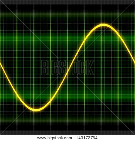 Texture wave sine digital oscilloscope backgrounds display 2D illustration