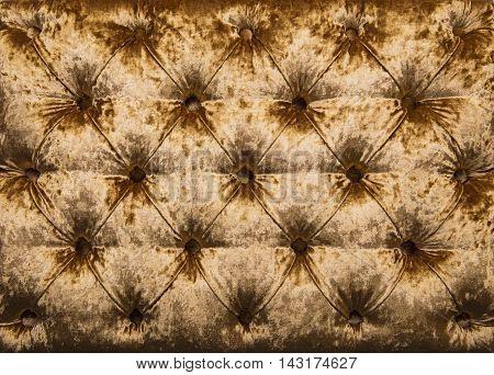 Golden Capitone Tufted Velvet Upholstery Texture