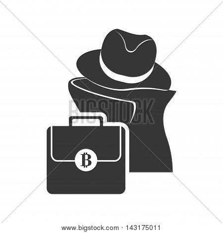 thief suitcase money financial commerce icon. Flat and Isolated design. Vector illustration