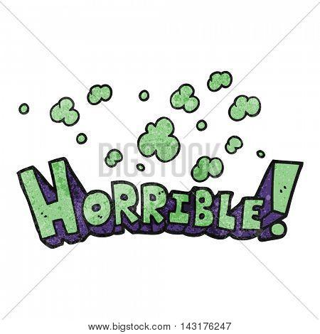 freehand drawn texture cartoon word horrible