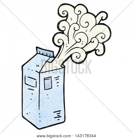 freehand drawn texture cartoon milk carton exploding