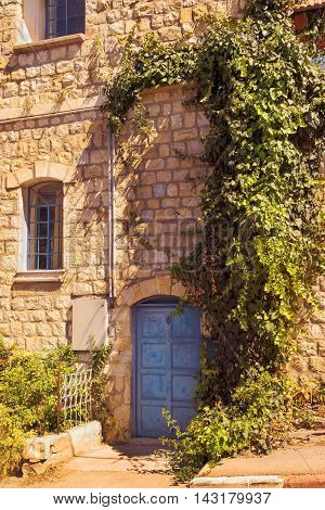 old stone house in the jewish religious quarter in Safed, Upper Galilee, Israel