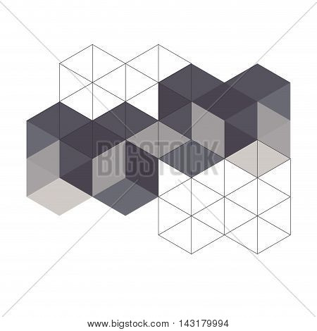flat abstract triangle background design vector illustration