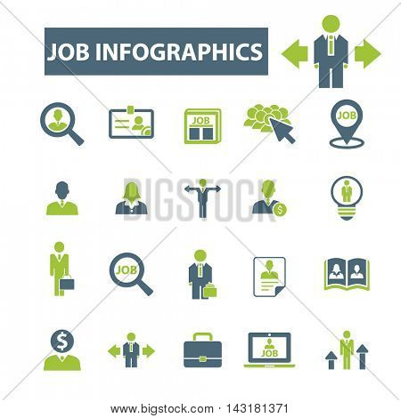 job infographics icons