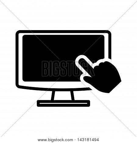 computer cursor technology gadget device icon. Flat and Isolated design. Vector illustration