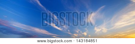 evening sky background. Element of design.  Nature composition.
