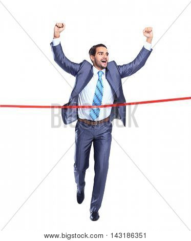 concept of a successful businessman finish