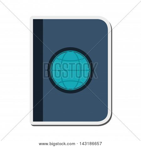 flat design single passport icon vector illustration