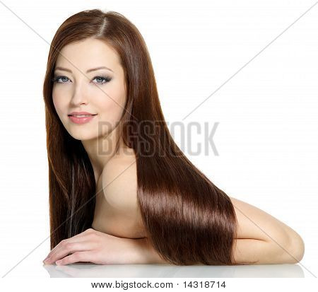 Beautiful Sexy Woman With Long Hairs