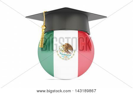 education and study in Mexico concept 3D rendering isolated on white background