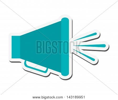 flat design single megaphone icon vector illustration