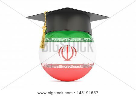 education and study in Iran concept 3D rendering isolated on white background