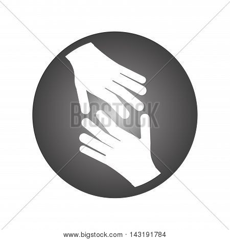 flat design open hands icon vector illustration