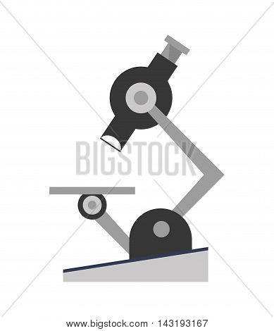 flat design single microscope icon vector illustration