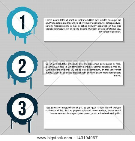 Infographic Chart with banners for presentation, informative forms. , web buttons