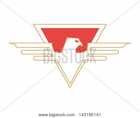 eagle striped shield superhero superman hero anime icon. Flat and Isolated illustration. Vector illustration