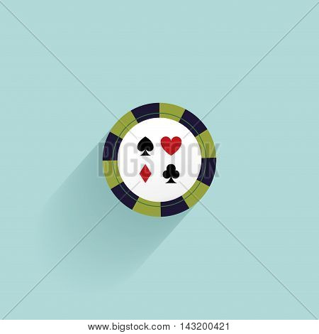Abstract Casino object on a blue background