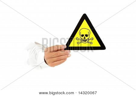 Warning Sign, Toxic Material.