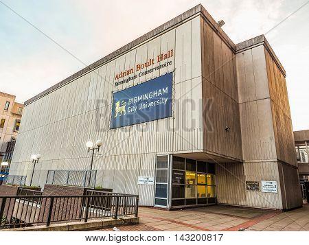 Adrian Boult Hall At Birmingham Conservatoire In Birmingham (hdr