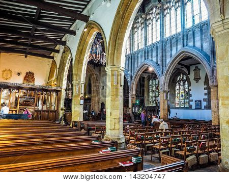 Holy Trinity Church In Stratford Upon Avon (hdr)