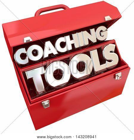 Coaching Tools Team Building Leadership Toolbox 3d Illustration