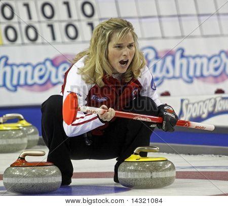 Scotties Curling Jennifer Jones Yells