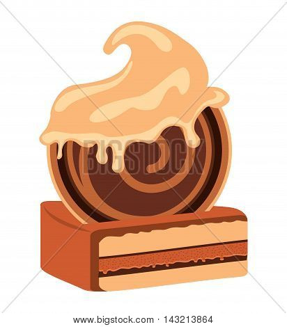 sweet delicious cookie isolated icon vector illustration design