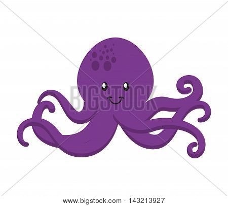 octopus tentacles isolated icon vector illustration design