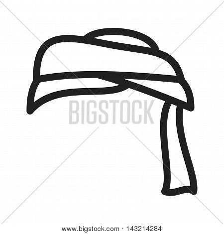 Turban, arabian, arab icon vector image. Can also be used for islamic. Suitable for mobile apps, web apps and print media.