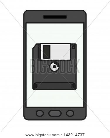 smartphone technology isolated icon vector illustration design
