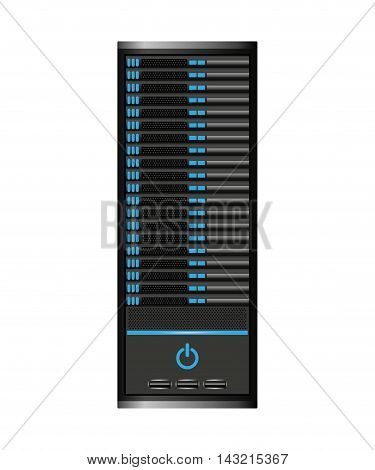 computer cpu server icon vector isolated graphic
