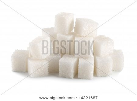 Sugar cube isolated