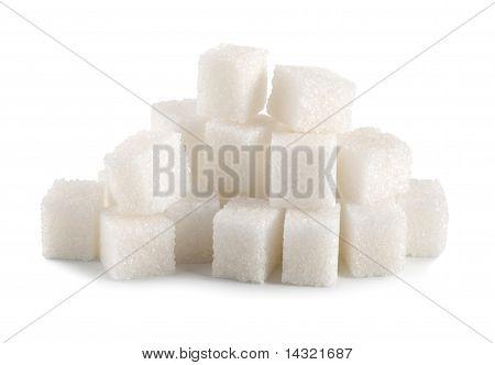 Sugar cube isolated