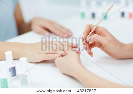 At beauty salon