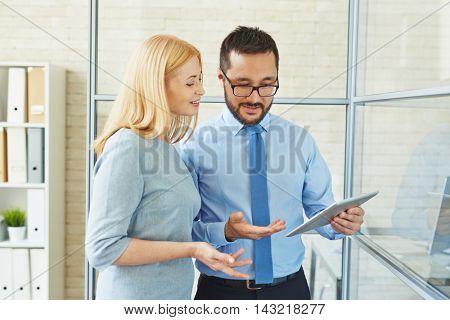 Business people with touchpad