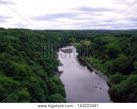 The River Wear and Penshaw Woods near Sunderland