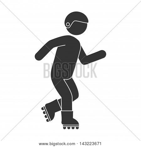 roller skate man helmet protection sport fun recreation healthy