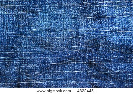 Jeans texture. Blue denim background. Cloth pattern