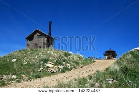 Cement Ridge Fire Lookout Tower in the Black Hills of South Dakota United States