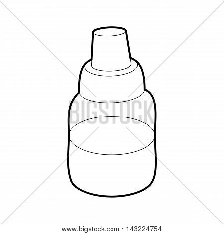 Bottle with pipette for vaping icon in outline style isolated on white background