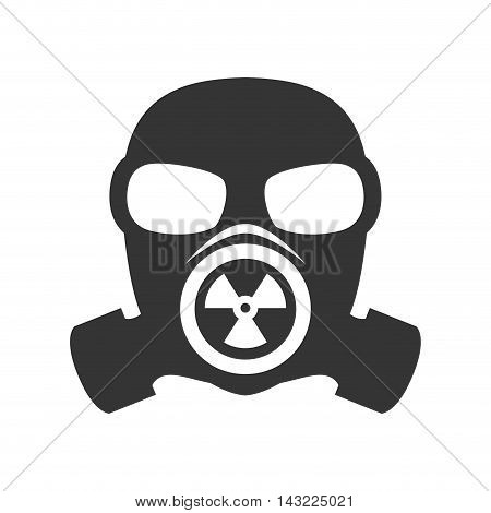 gas mask nuclear biological toxic defense protection vector illustration