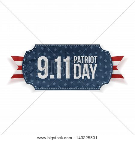 Patriot Day 9-11 realistic Banner. Vector Illustration