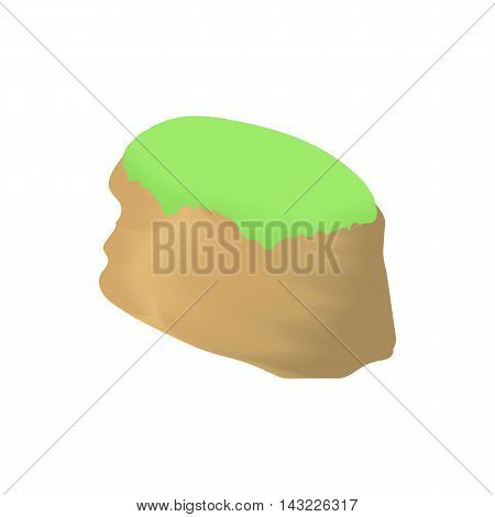 Hill icon in cartoon style isolated on white background. Nature symbol