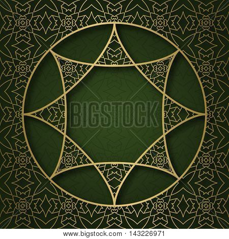 Traditional ornamental background with circular mandala form frame